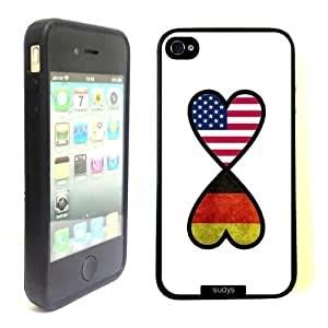 SudysAccessories American German Forever Germany Flag Infinity Forever Thinshell Case Protective iPhone 4 Case iPhone 4S Case