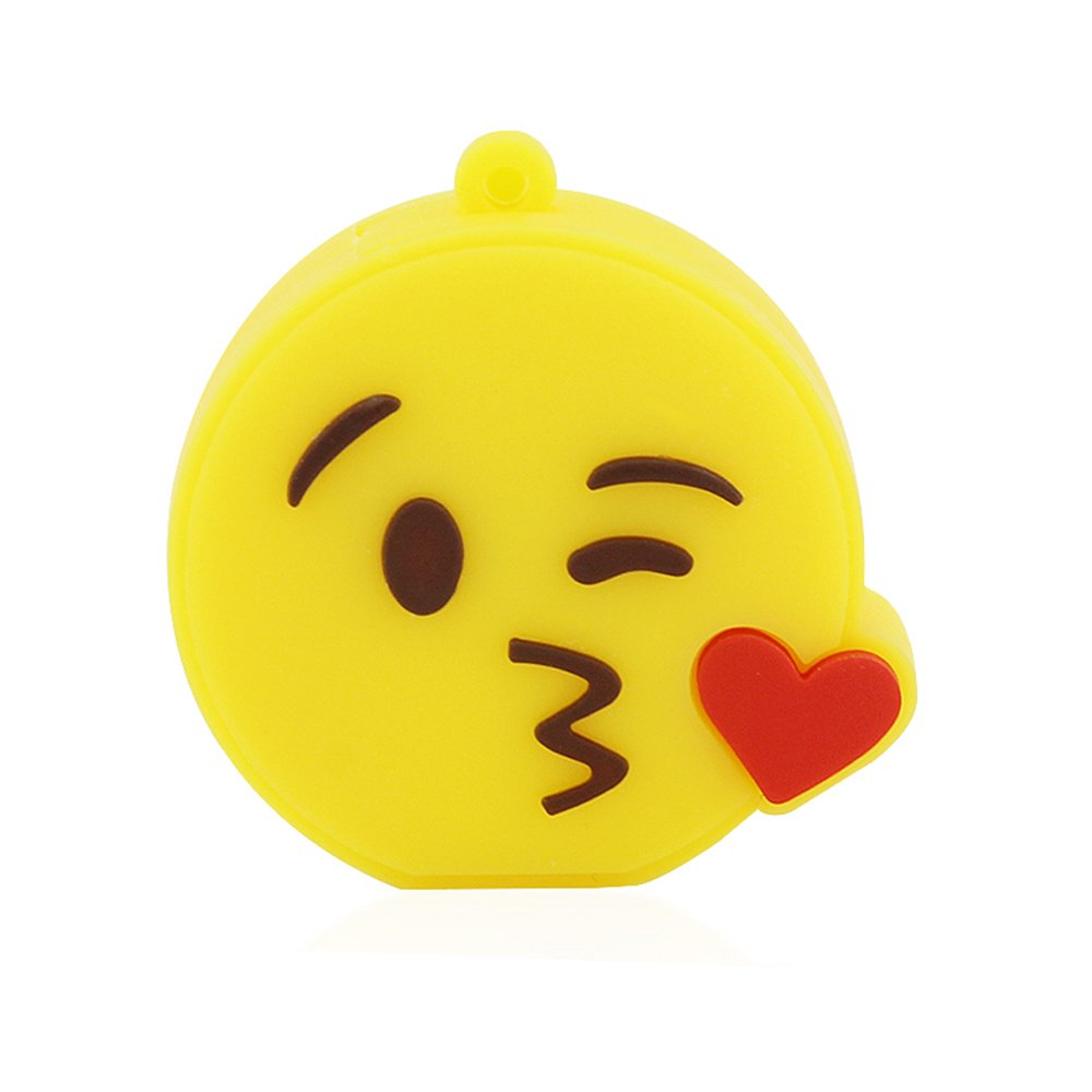 Funnyusb USB Flash Drive USB 3.0 32GB Cartoon Emoji Emotion Expression Shape USB High Speed Flash Disk Pen Drive Disk Memory Stick(Give a Kiss)
