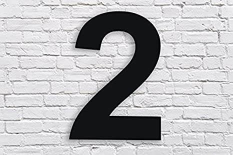 Amazon.com: Número de casa flotante moderno – 6 pulgadas ...
