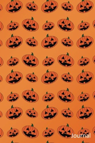 Journal: Orange pumpkin jack o lantern notebook -