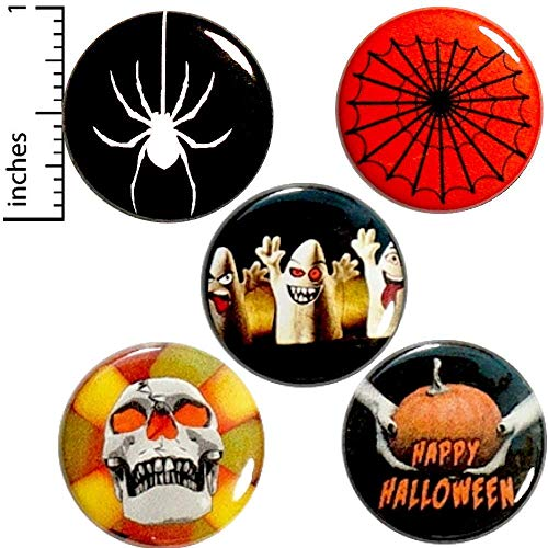 Halloween 5 Pack Button Pin or Magnet 1 Inch P16-4 ()