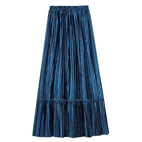 Long 3 Stretch Da Alta Vita Quarti Gonna Tre A Elastica Miaofan Casual Dress Retro Donna Maxi Pieghe 147CWx