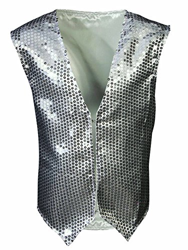 Sequin Vest-Child, Silver, One Size