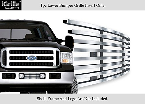 Ford F350 Billet Grille - APS Stainless Steel 304 Billet Grille Grill Custome Fits 2005-2007 Ford F250/F350 SuperDuty Bumper