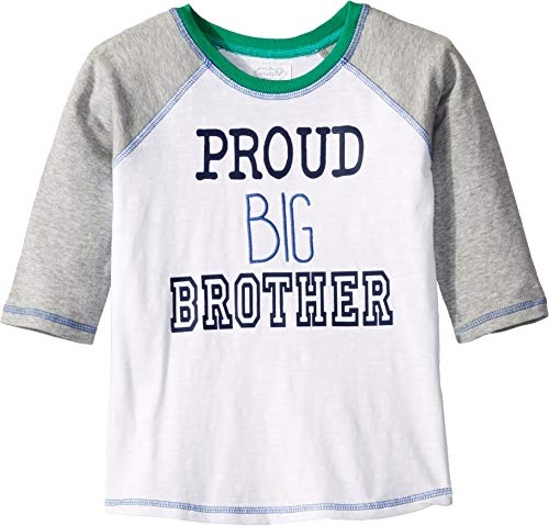 (Mud Pie Baby Boy's Big Brother T-Shirt (Infant/Toddler) White LG (4T-5T Toddler))