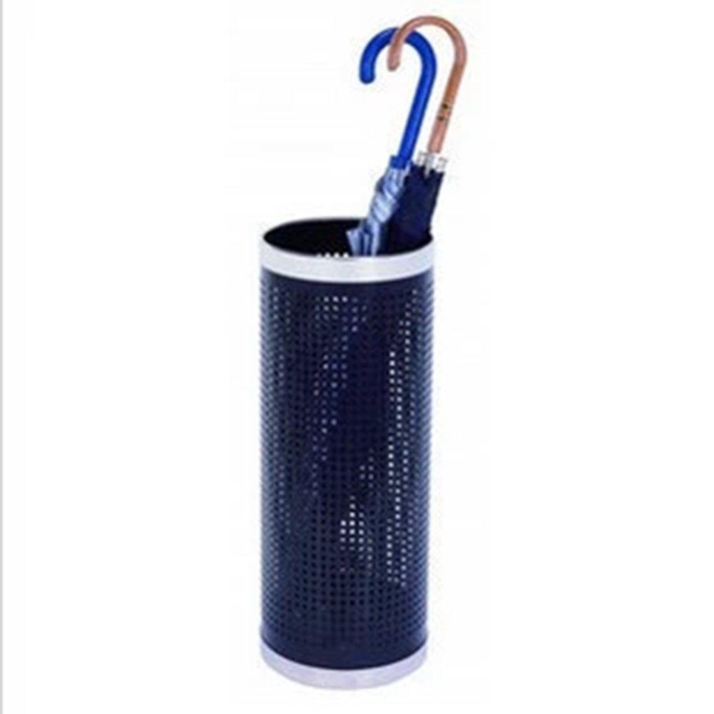 Dongy Mesh Umbrella Stand Paint Umbrella Bucket, Home/Office / Hotel Lobby Umbrella Stand, Redondo 22 * 57cm Negro