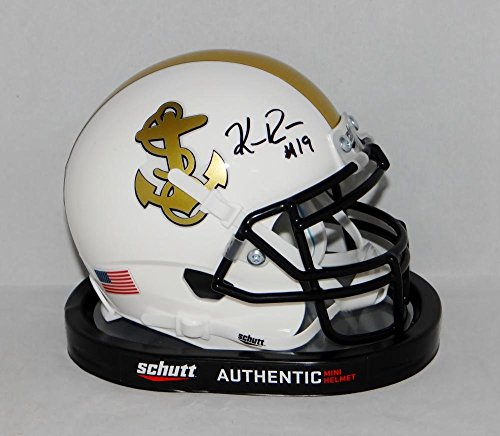 Keenan Reynolds Autographed Navy Midshipmen White Mini Helmet- JSA W Auth