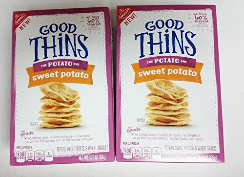 Nabisco Good Thins Wheat Sweet Potato Cracker Snacks 3.75 oz (2 pack)
