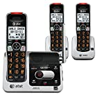 AT&T DECT 6.0 Phone Answering System with Caller ID/Call Waiting, 3 Cordless Handsets, Black/Silver CRL82312