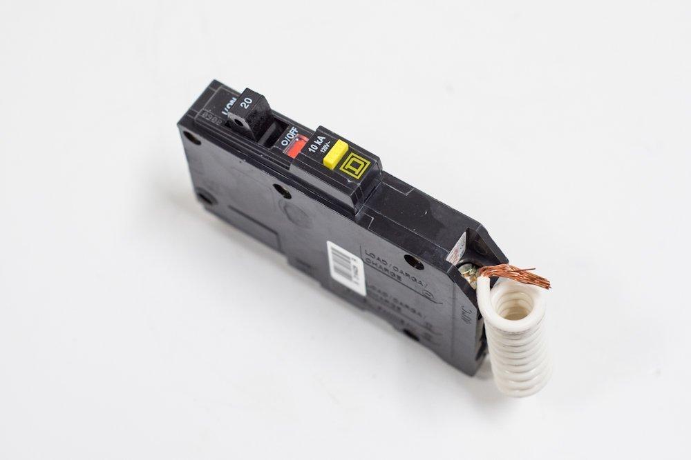 Square D QO120GFI Plug-On Ground Fault Circuit Breaker; 20 Amp, 120 VAC, 1 Phase SQU-QO120GFI