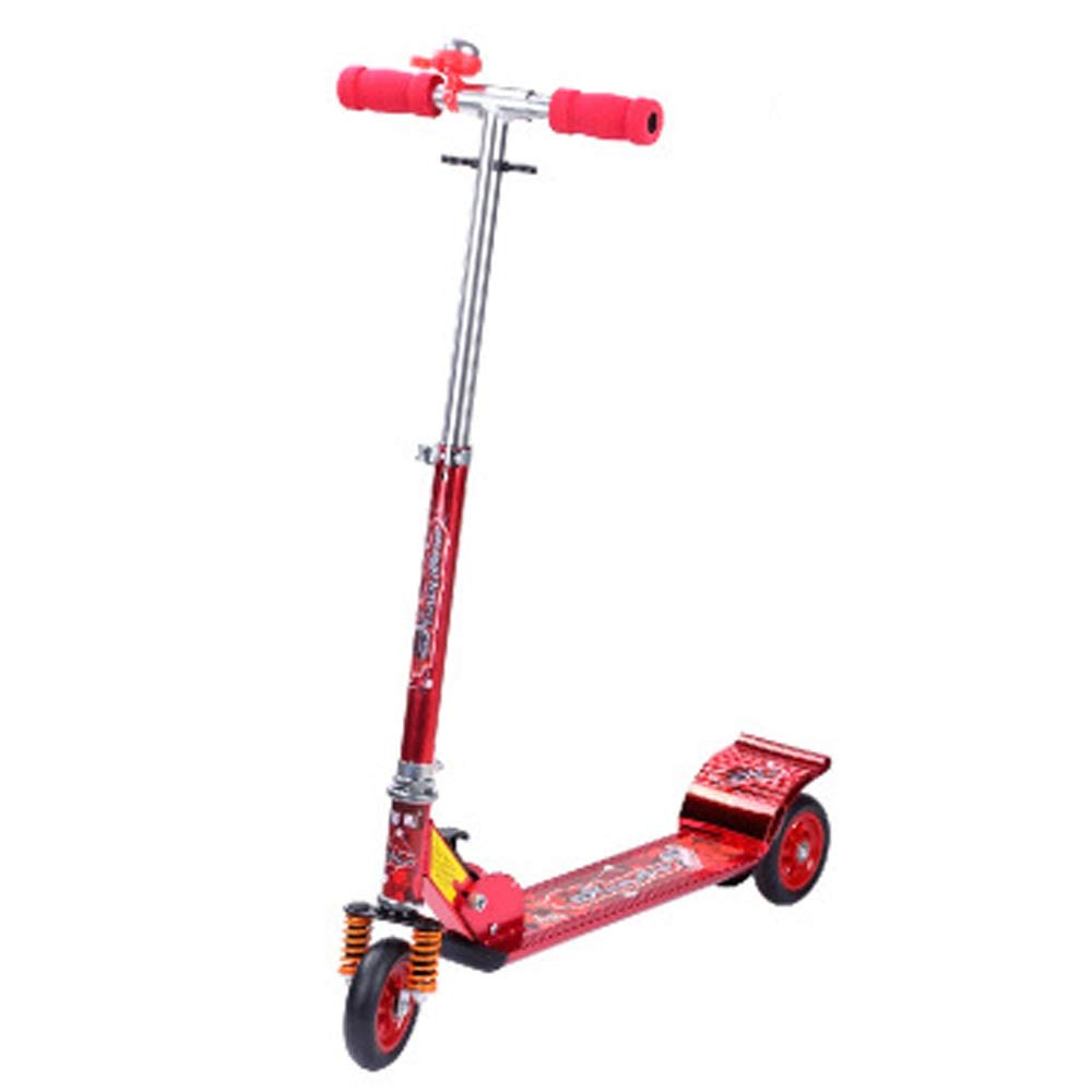 Giow Scooter para Niños, Scooter, Flash De Tres Ruedas, Campana, Freno Antideslizante,Red