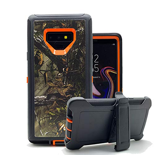 Galaxy Note 9 Cases, Harsel Heavy Duty Defender Camouflage High Impact Resistant Shockproof Rugged Military Grade Durable Protective Case Cover with Belt Clip for Samsung Galaxy Note 9 (Forest Orange)