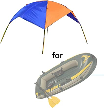 Foldable Canopy for Inflatable Boat 4 Person Camping Fishing Tent Sun Shade