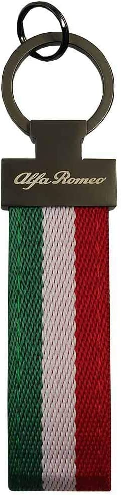 PSL Limited Edition Italy Flag Keychain For Alfa cars Giulia spider 4c Giulietta Stelvio Tonale leather nylon key fob