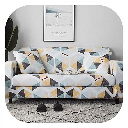 New face All-Inclusive Sofa Cover European Printing Anti-Dirty Sectional Couch Cover Corner Slipcovers capa de Sofa 1/2/3/4-seater,Color 9,1-Seater 90-140cm (Tv Living Jordan's Furniture With Set Room)