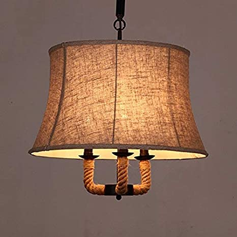 techo de la lámpara se enciende la lámpara retro cuerda ...