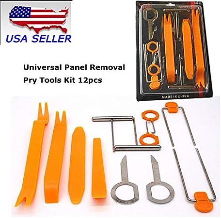 Universal Panel Removal Open Pry Tools Kit 12pcs Car Dash Door Radio Trim Panel