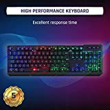 KLIM Chroma Rechargeable Wireless Gaming Keyboard + Slim, Durable, Ergonomic, Quiet, Waterproof, Silent Keys + Backlit Wireless Keyboard for PC PS4 Xbox One Mac + Teclado Gamer + New 2020 Version