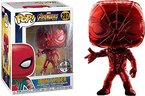 Funko Pop! Marvel Iron Spider  color rojo totalmente Exclusivo !!! [Super Raro] Chrome Pop