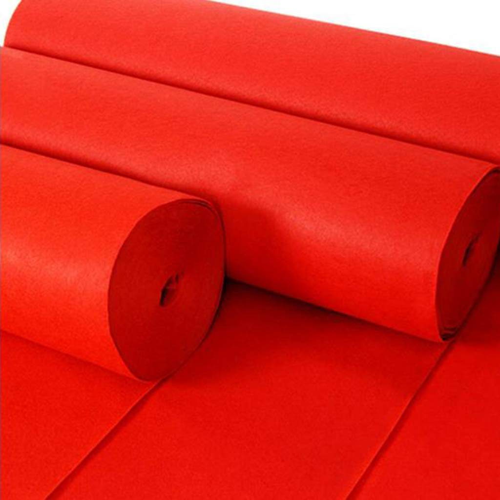 Red 2.10M Red Carpet Disposable Wedding Stage Exhibition Opening Red Striped Carpet 1m  10m (Capacity),Red,2.10M