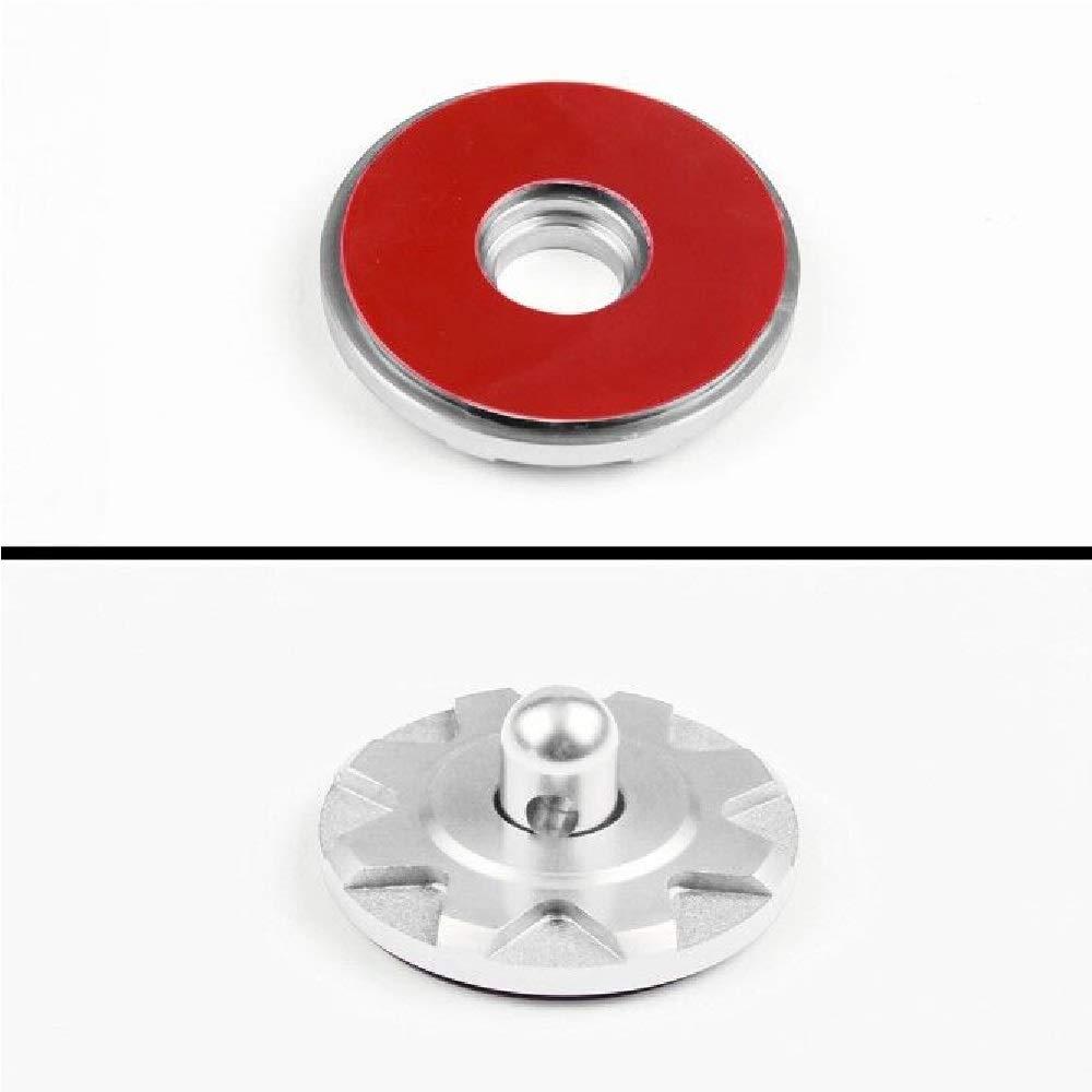 2 Pack Silver Universal CNC Aluminum Car Vehicle Racing Hood Pin Lock Latches Lock Appearance Kit Partol Hood Lock