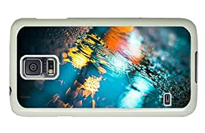 Hipster Samsung Galaxy S5 Case carry Puddle Color Reflection PC White for Samsung S5