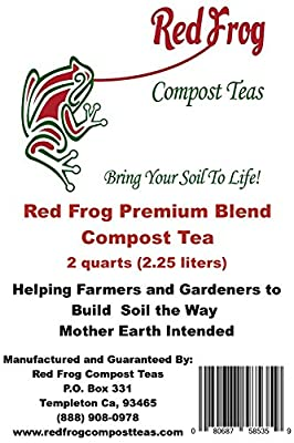 2 Quarts Red Frog Premium Blend Compost Tea-All Purpose Plant & Hydroponics Feed;All Natural & Organic Blend, Blended w/Best Feeds & Trace Minerals for All Fertilizer/Soil Amendment Needs