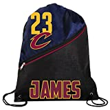 FOCO NBA Cleveland Cavaliers Lebron James #23 Official High End Zippered Drawstring Backpack