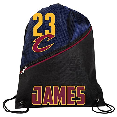 FOCO NBA Cleveland Cavaliers LeBron James #23 Official High End Zippered Drawstring Backpack by FOCO