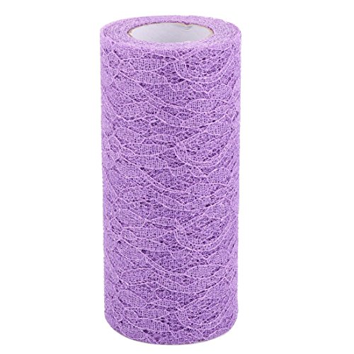 uxcell Polyester Home Party Window Curtains Decoration Tulle Spool Roll 6 Inch x 10 Yards Light Purple