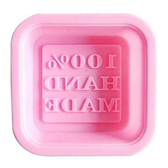 TOOGOO(R) Seifenform Handgemachter Silikon Platz Form DIY(zufaellige Farbe)