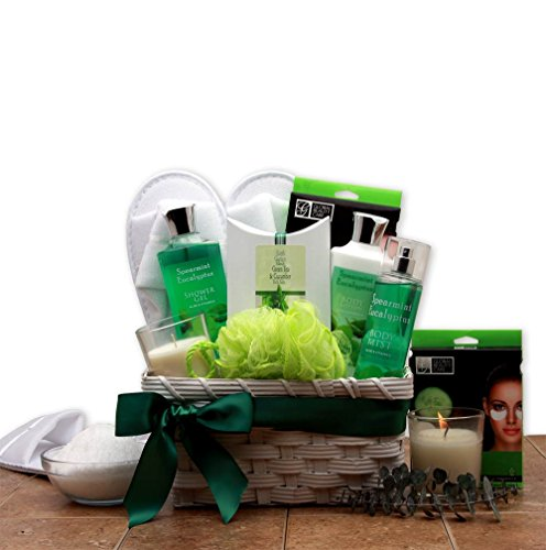 Calming Warmth Eucalyptus Spa Gift Basket | Eucalyptus Spearmint Scented