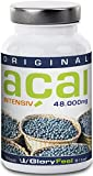 Acai Berry Capsules Intensive 48000 - Extremly High Concentrate Acai Powder (30:1 Extract) - 120 Vegan Capsules - Original Brasilian Acai-Berries - 100% Natural and Pure - Backed by Amazon Guarantee