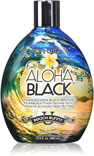 Tan Asz U ALOHA BLACK Advanced 200X Black Bronzer - 13.5 oz. (Best Suntan Lotion For Black Skin)