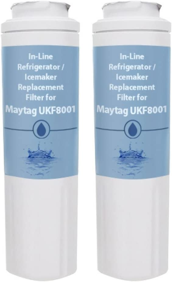 2 Pack Replacement Water Filter Cartridge for Maytag Refrigerator Models MFI2569VEM4 / MSD2355HEB 51gq3n0ATKL