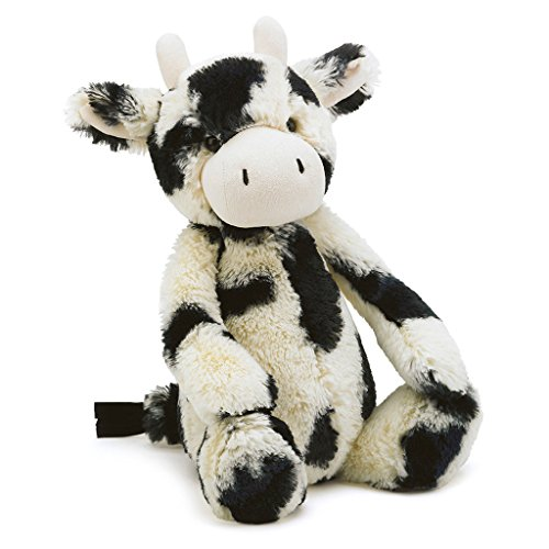 Jellycat Bashful Cow Stuffed Animal, Medium, 12 ()