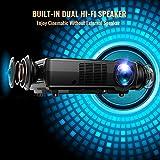 Projector, TENKER Video Projector Upgrade Lumens