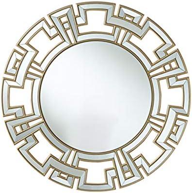 壁掛け鏡寝室の壁掛け鏡ファッションドレッシング浴室用鏡リビングルームの壁飾り鏡ポーチ廊下壁掛け鏡ラウンド壁鏡 (Color :