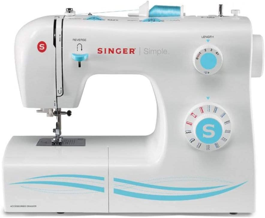 Singer Simple 2263 Máquina de Coser de 23 Puntos, Color Blanco ...