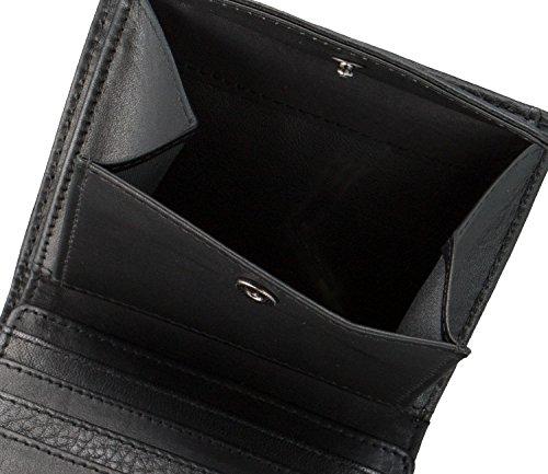 bugatti Pregio monedero piel 8 cm negro