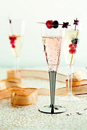 Mozaik Lot de 6 fl/ûtes /à champagne Argent/é 100 ml