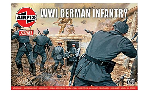 (Airfix Vintage Classics WWI German Infantry Figures 1:72 Military Soldiers Plastic Model Kit)