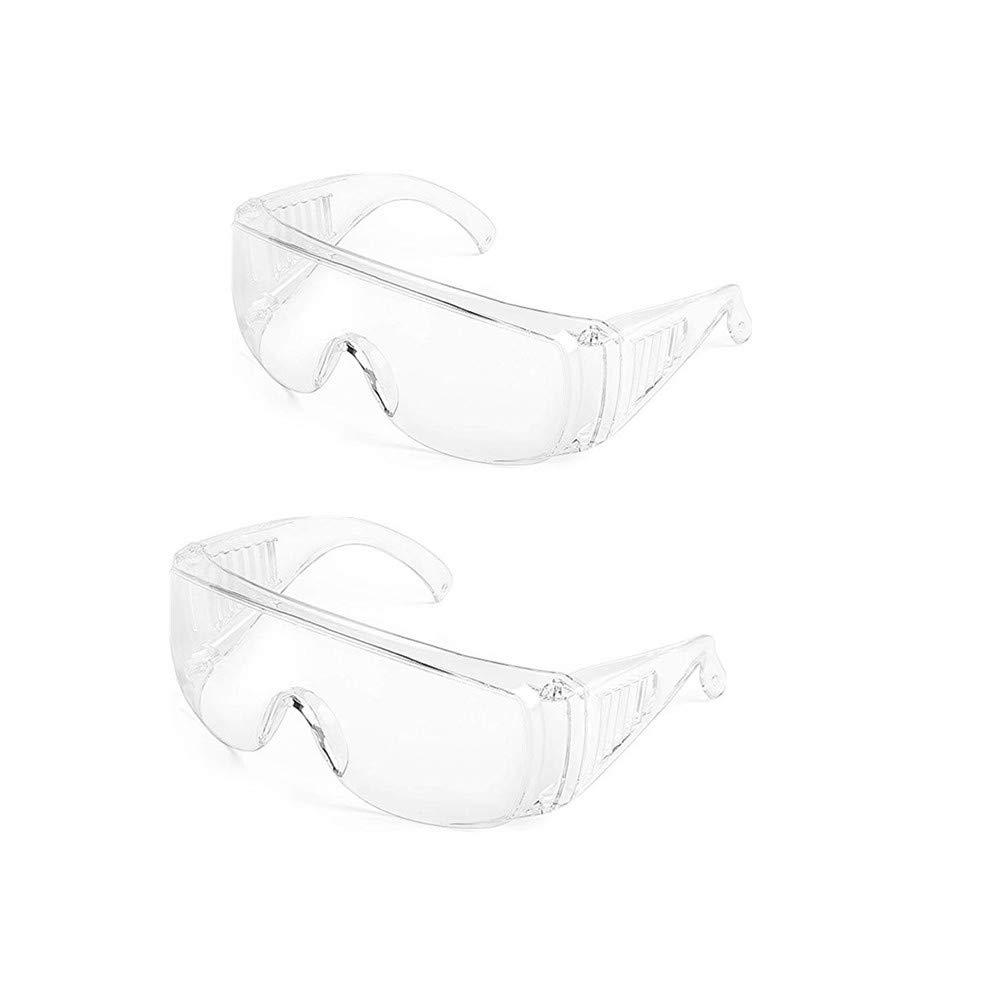 Gafas de Seguridad para Adultos Antiniebla A Prueba de Salpicaduras Transparente Hombres y Mujeres Equipo de Seguridad Personal, Ligero Gafas Proteccion (2)