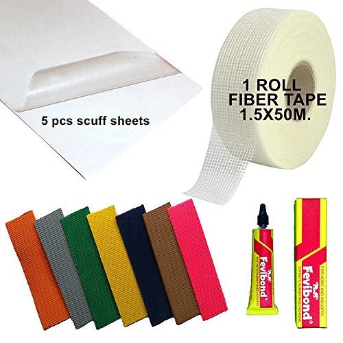C2C Cricket Bat 5X Toe Guard+Scuff Sheet + Fibre Roll