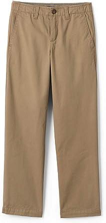 Amazon Com Lands End Boys Iron Rodilla Chino Cadete Pantalones Clothing