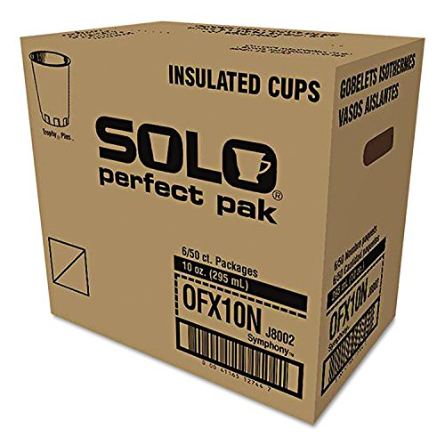 Solo Cup Company Trophy - SOLO Cup Company Symphony Design Trophy Foam Hot/Cold Drink Cups, 10oz