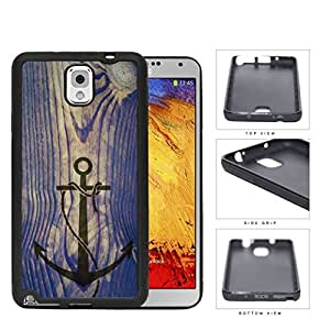 Ship Anchor Watermark On Vintage Wood Rubber Silicone TPU Cell Phone Case Samsung Galaxy Note 3 III N9000 N9002 N9005