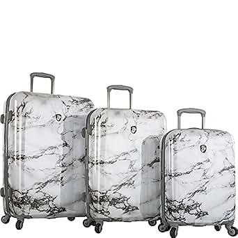 Heys America Bianco 3pc Hardside Spinner Luggage Set (White Marble)