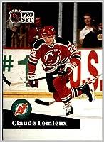 1991-92 Pro Set #135 Claude Lemieux NEW JERSEY DEVILS