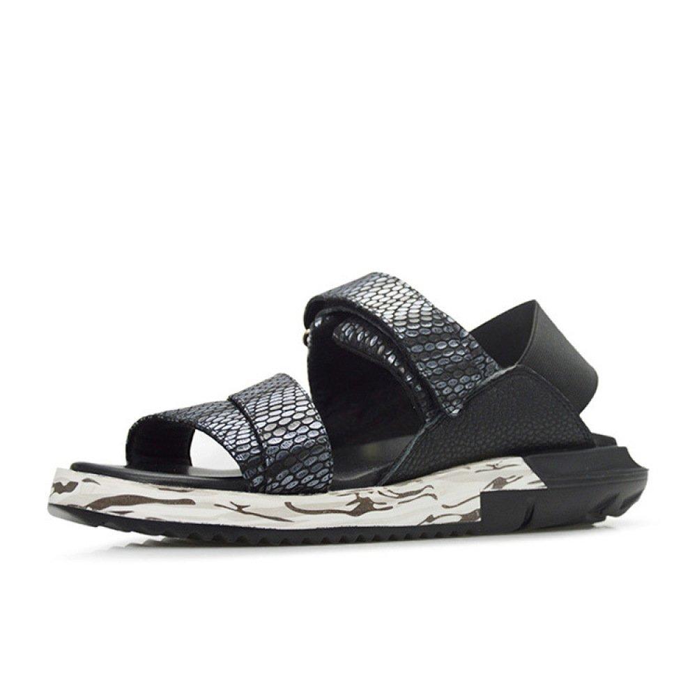 Summer Casual Fashion Joker Breathable Beach Shoes Velcro Sandalias 40 EU|Blue
